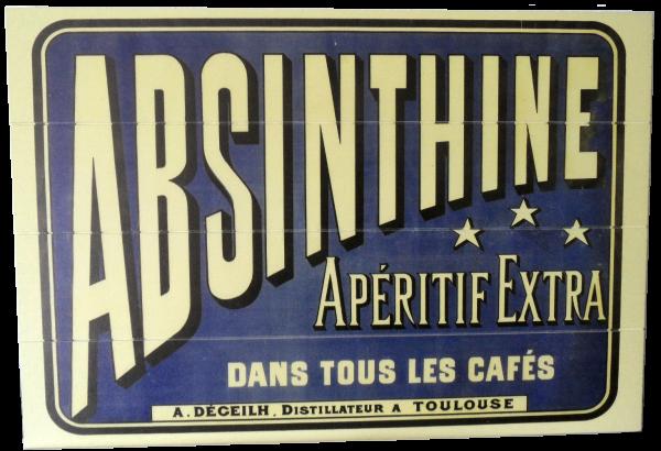 Holzschild Absinthe Apertif