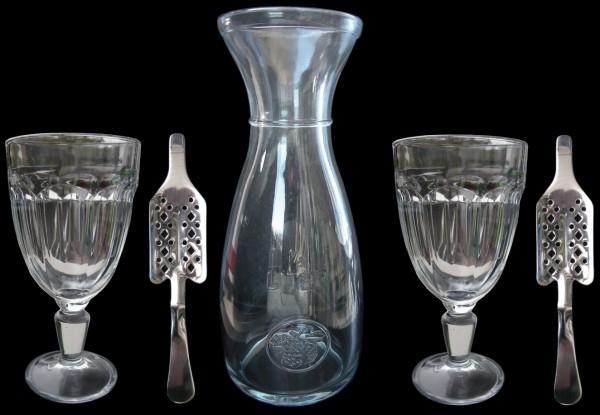 "Set ""Casablanca"" - Karaffe, 2 x Glas, 2 x Löffel"