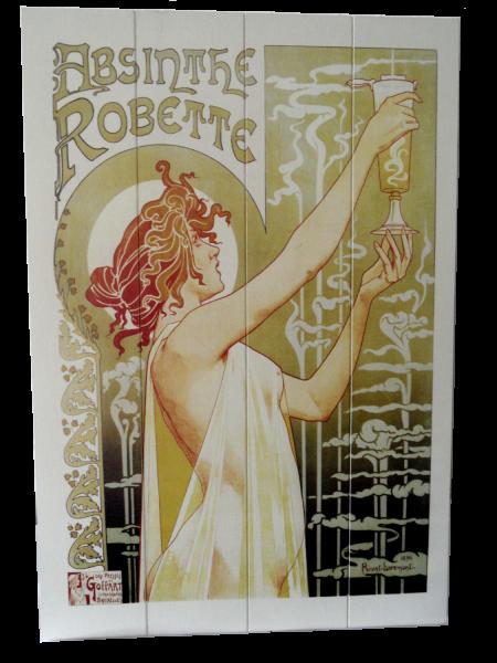 Holzschild Absinthe Robette