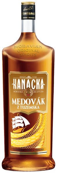 Rum Hanacka Tuzemsky Medovak 33% 1l