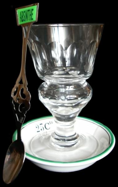 """Reservior Pontarlier"" Glas, Löffel, Untersetzer"