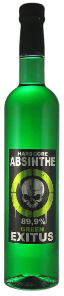 Hardcore Absinthe Green Exitus 89,9% 0,5l
