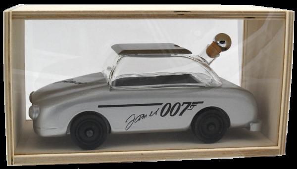 "Mundgeblasene Dekoflasche ""Aston Martin"" 0,2L - befüllbar"