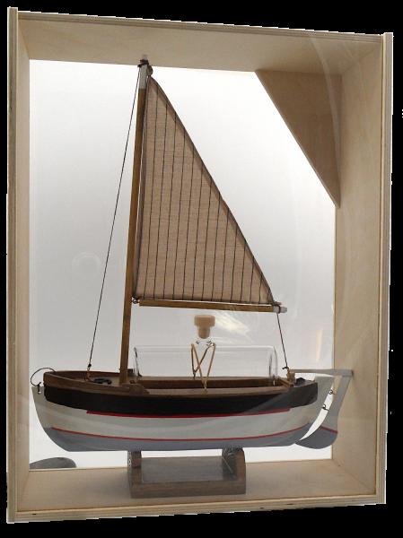 "Mundgeblasene Dekoflasche ""Segelschiff"" 0,35L - befüllbar"