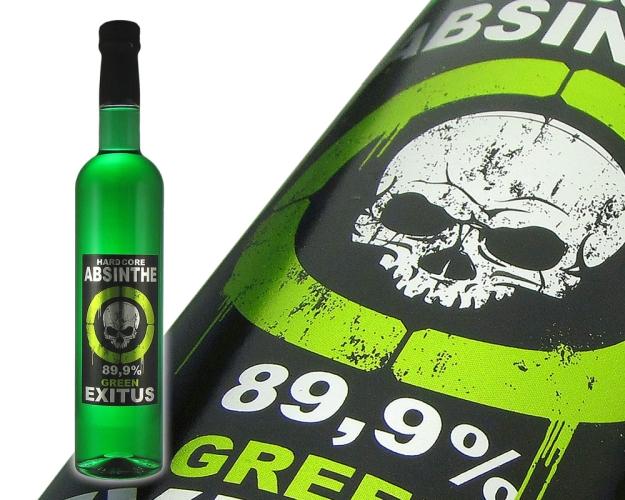 hardcore absinthe green exitus cannax distillerie mit dem absinth ...